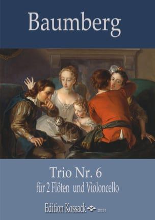 Trio n° 6 J. C. Baumberg Partition Trios - laflutedepan