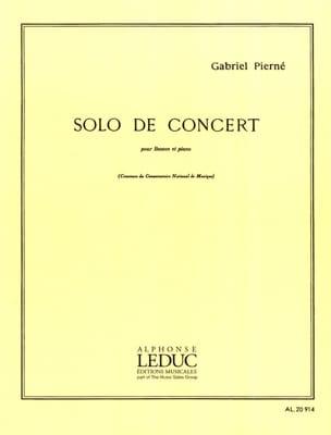 Solo de concert op. 35 - PIERNE - Partition - laflutedepan.com