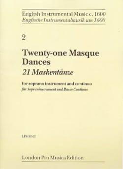 21 Masque Dances - Flûte à Bec Soprano et B.C. laflutedepan