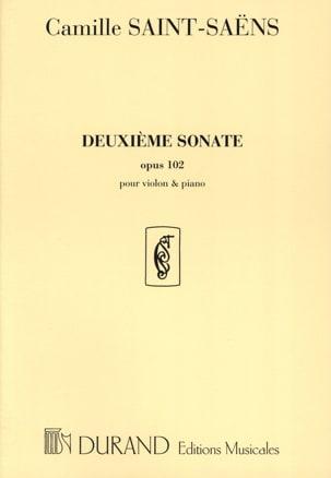 Sonate n° 2 op. 102 SAINT-SAËNS Partition Violon - laflutedepan
