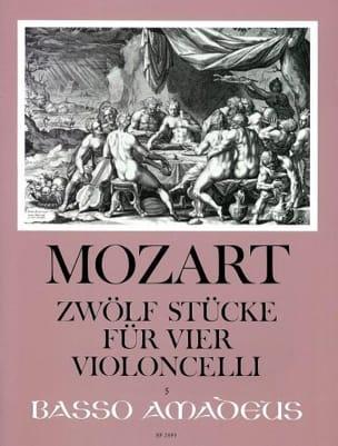 Zwölf Stücke für vier Violoncelli MOZART Partition laflutedepan