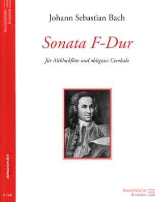 Sonata F-Dur - Altblockflöte BACH Partition Flûte à bec - laflutedepan