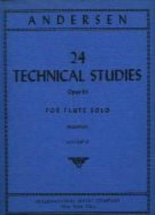 24 Technical studies op. 63 - Volume 2 - ANDERSEN - laflutedepan.com