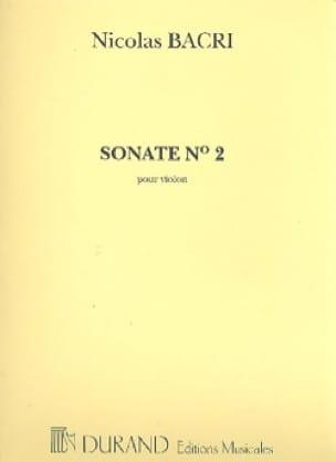 Sonate n° 2 op. 53 - Nicolas Bacri - Partition - laflutedepan.com
