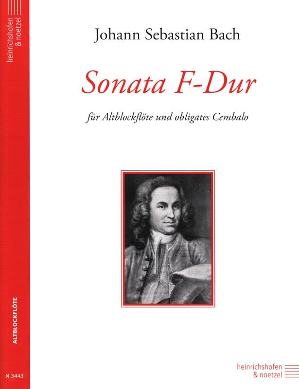Sonata F-Dur - Altblockflöte - BACH - Partition - laflutedepan.com