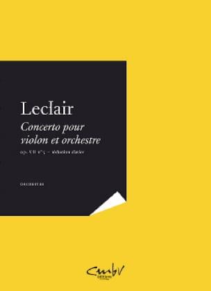 Concerto pour violon et orchestre op 7 n° 5 en la mineur - laflutedepan.com