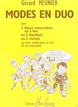 Modes en duo Gérard Meunier Partition Flûte traversière - laflutedepan