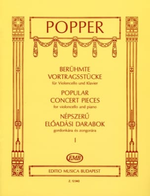 Popular Concert Pieces Volume 1 David Popper Partition laflutedepan
