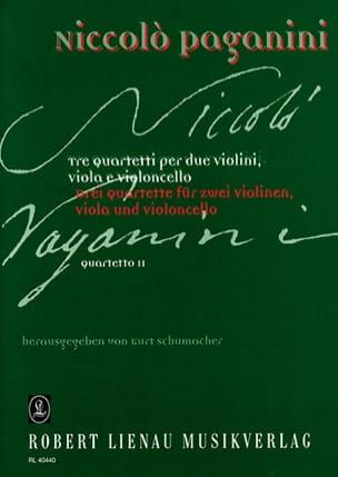 Quartetto n° 2 -Partitur + Stimmen PAGANINI Partition laflutedepan