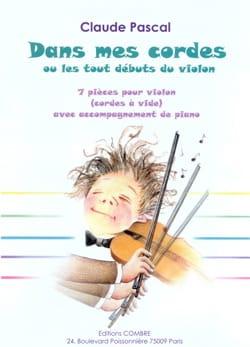 Dans mes cordes Claude Pascal Partition Violon - laflutedepan