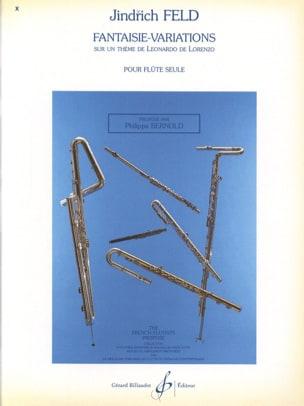Fantaisie-Variations - Flûte Solo Jindrich Feld Partition laflutedepan