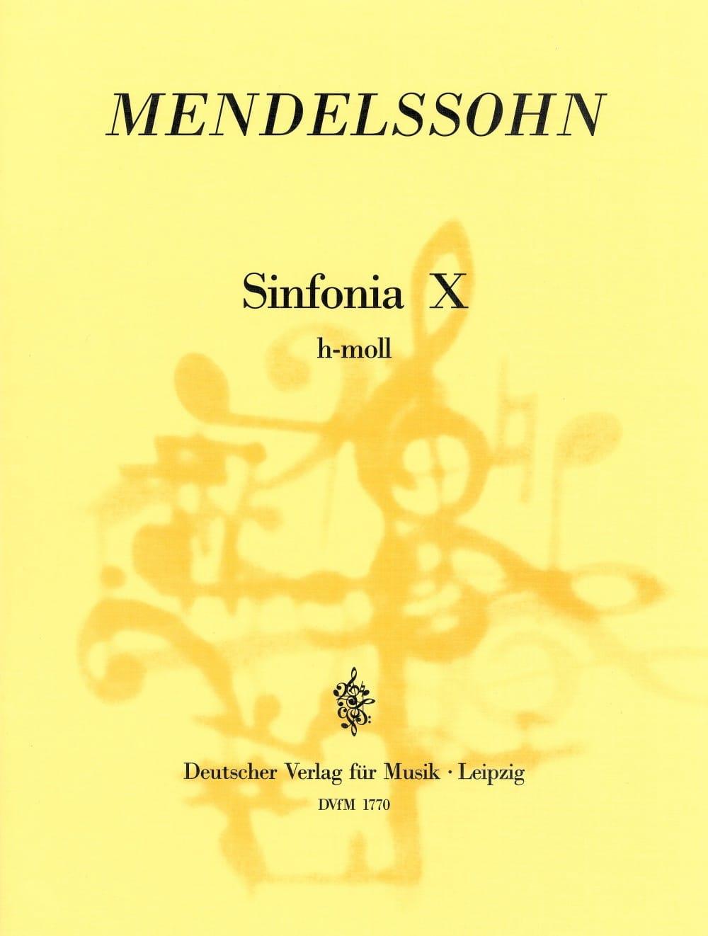 Sinfonia Nr. 10 h-moll - Partitur - MENDELSSOHN - laflutedepan.com
