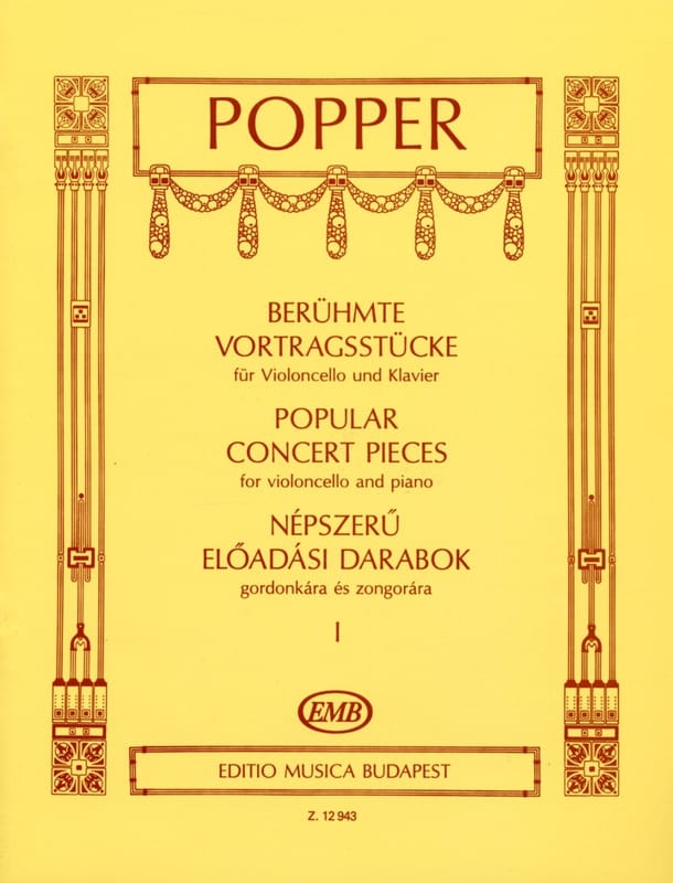 Popular Concert Pieces Volume 1 - David Popper - laflutedepan.com