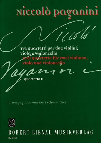 Quartetto n° 2 -Partitur + Stimmen - PAGANINI - laflutedepan.com