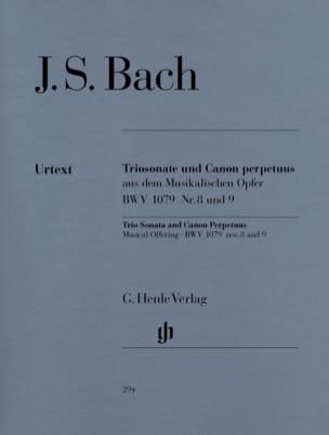 Sonate en trio et Canon Perpetuus de l'Offrande musicale BWV 1079 n° 8 et 9 laflutedepan