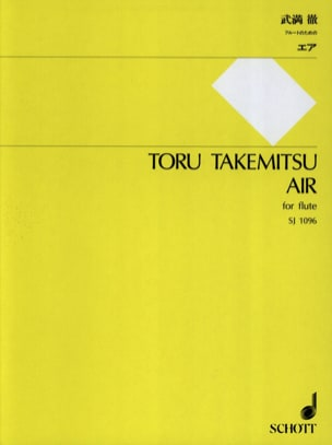 Air - Flute solo TAKEMITSU Partition Flûte traversière - laflutedepan