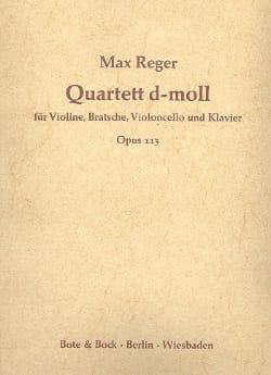 Quartett d-moll op. 113 -Stimmen Max Reger Partition laflutedepan