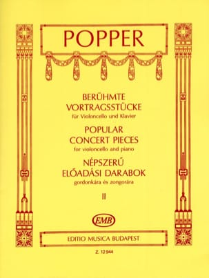Popular Concert Pieces Volume 2 - Violoncelle laflutedepan