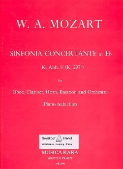 Sinfonia concertante in Eb KV Anh. 9 297b - Oboe clarinet horn bassoon piano - laflutedepan.com