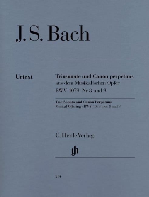 Sonate en trio et Canon Perpetuus de l'Offrande musicale BWV 1079 n° 8 et 9 - laflutedepan.com