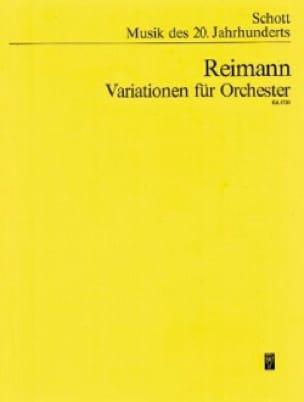 Variationen - Partitur - Aribert Reimann - laflutedepan.com