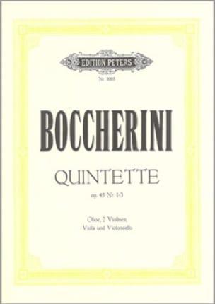 3 Quintette op. 45 n° 1-3 - Stimmen - BOCCHERINI - laflutedepan.com