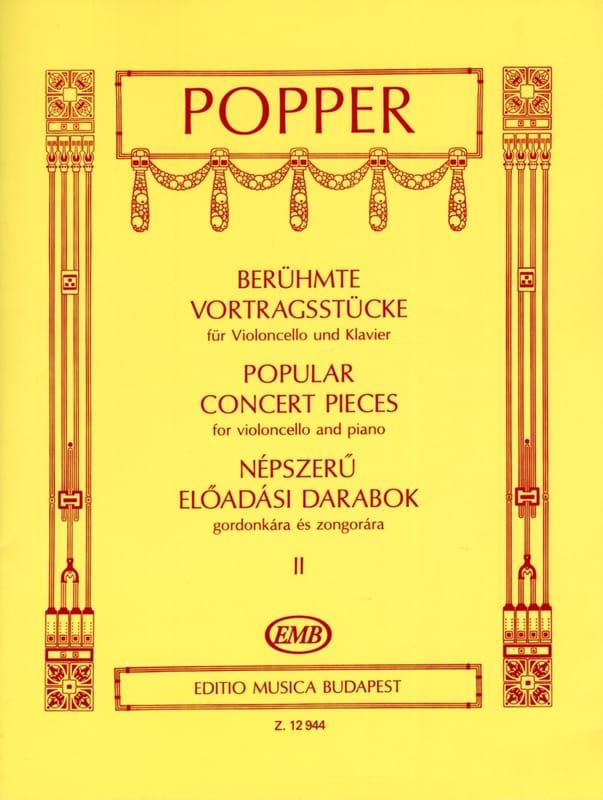 Popular Concert Pieces Volume 2 - Violoncelle - laflutedepan.com