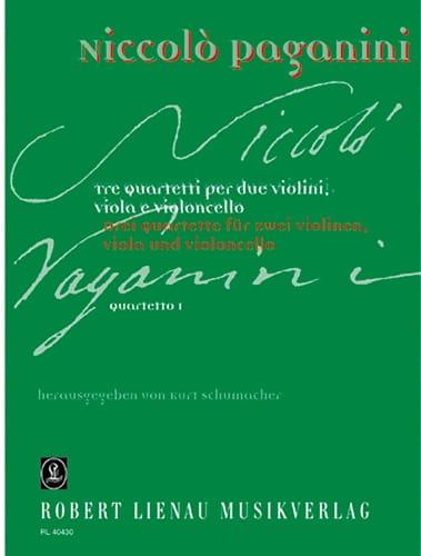 Quartetto n° 1 -Partitur + Stimmen - PAGANINI - laflutedepan.com