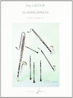 22 Dodécaprices Guy Lacour Partition Clarinette - laflutedepan