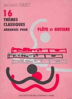 16 Thèmes classiques - Flûte guitare Partition Duos - laflutedepan
