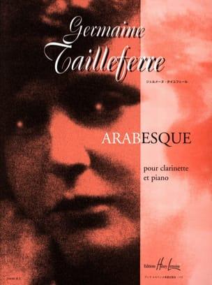 Arabesque Germaine Tailleferre Partition Clarinette - laflutedepan