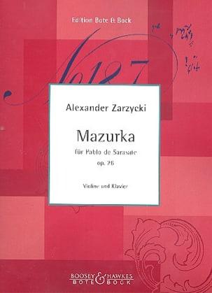 Mazurka für Pablo de Sarasate op. 26 Alexander Zarzycki laflutedepan