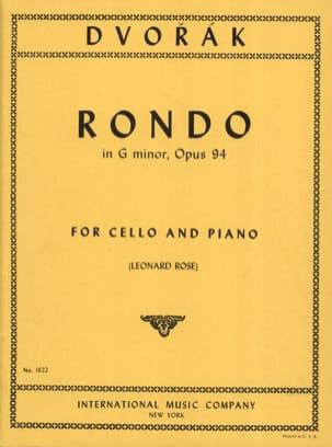 Rondo in G Minor op. 94 DVORAK Partition Violoncelle - laflutedepan