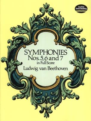 Symphonies N° 5, 6 et 7 - Full Score BEETHOVEN Partition laflutedepan