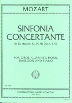 Sinfonia concertante KV 297b Anh. 1. 9 - oboe clarinette cor, bassoon piano laflutedepan