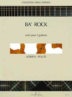 Ba' rock Adrien Politi Partition Guitare - laflutedepan