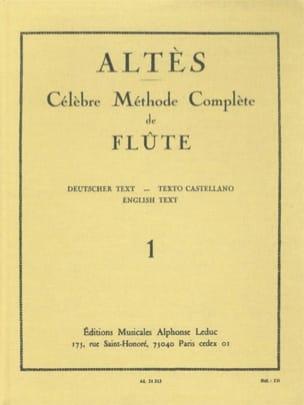 Méthode Complète de Flûte - Volume 1 Henry Altès laflutedepan