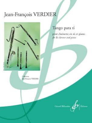Tango Para Ti Jean-François Verdier Partition laflutedepan