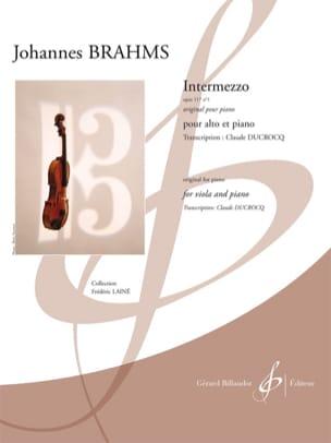 Intermezzo, op 117 n° 1 BRAHMS Partition Alto - laflutedepan