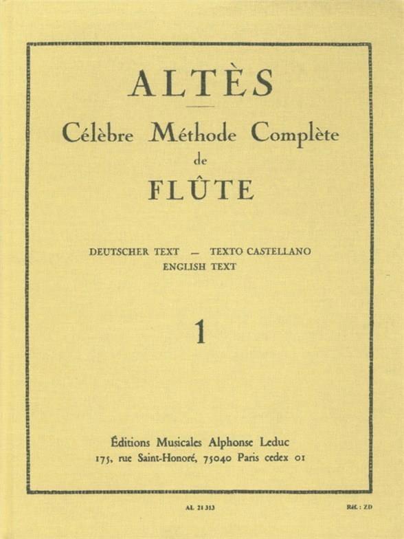 Méthode Complète de Flûte - Volume 1 - Henry Altès - laflutedepan.com