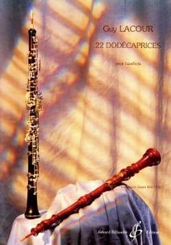 Guy Lacour - 22 Dodécaprices - Oboe - Partition - di-arezzo.co.uk