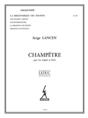 Champêtre Serge Lancen Partition Hautbois - laflutedepan
