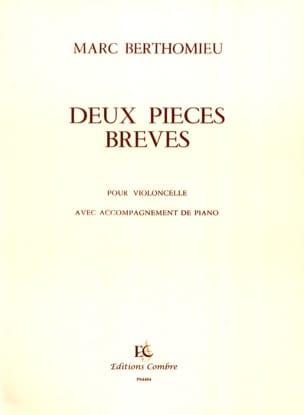Deux pièces brèves Marc Berthomieu Partition laflutedepan