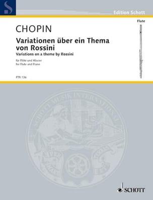 Variationen über ein thema von Rossini CHOPIN Partition laflutedepan