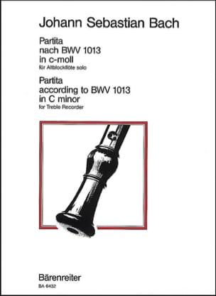 Partita c-moll nach BWV 1013 für Altblockflöte solo BACH laflutedepan