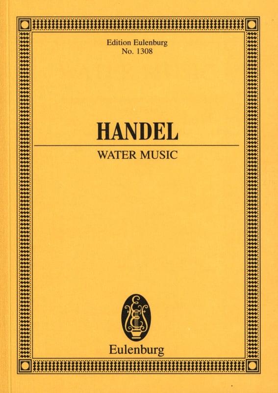 Wassermusik - Water Music - HAENDEL - Partition - laflutedepan.com