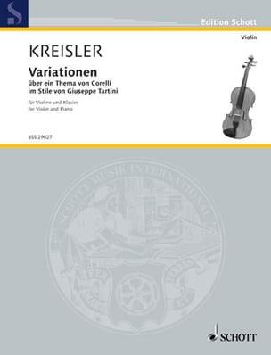 Fritz Kreisler - Variación en über ein Thema von Corelli - Partition - di-arezzo.es