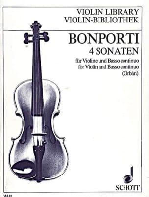 4 Sonaten op. 12 Francesco Antonio Bonporti Partition laflutedepan