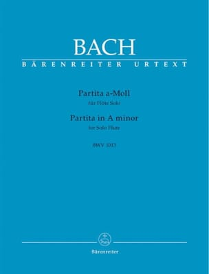 Partita en la mineur BWV 1013 BACH Partition laflutedepan