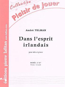 Dans l'esprit irlandais André Telman Partition Alto - laflutedepan